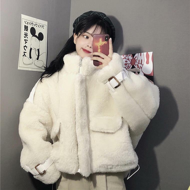 【送料無料】ふわふわ ボリューミー ♡ もこもこ カジュアル 大人可愛い オーバーサイズ ファー ボア ジャケット コート アウター