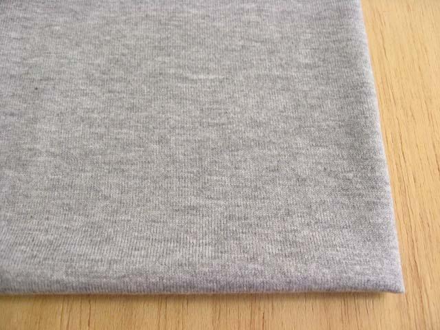 綿(トップ染糸)・テンセル混 杢調天竺ニット 杢グレー NTM-2531