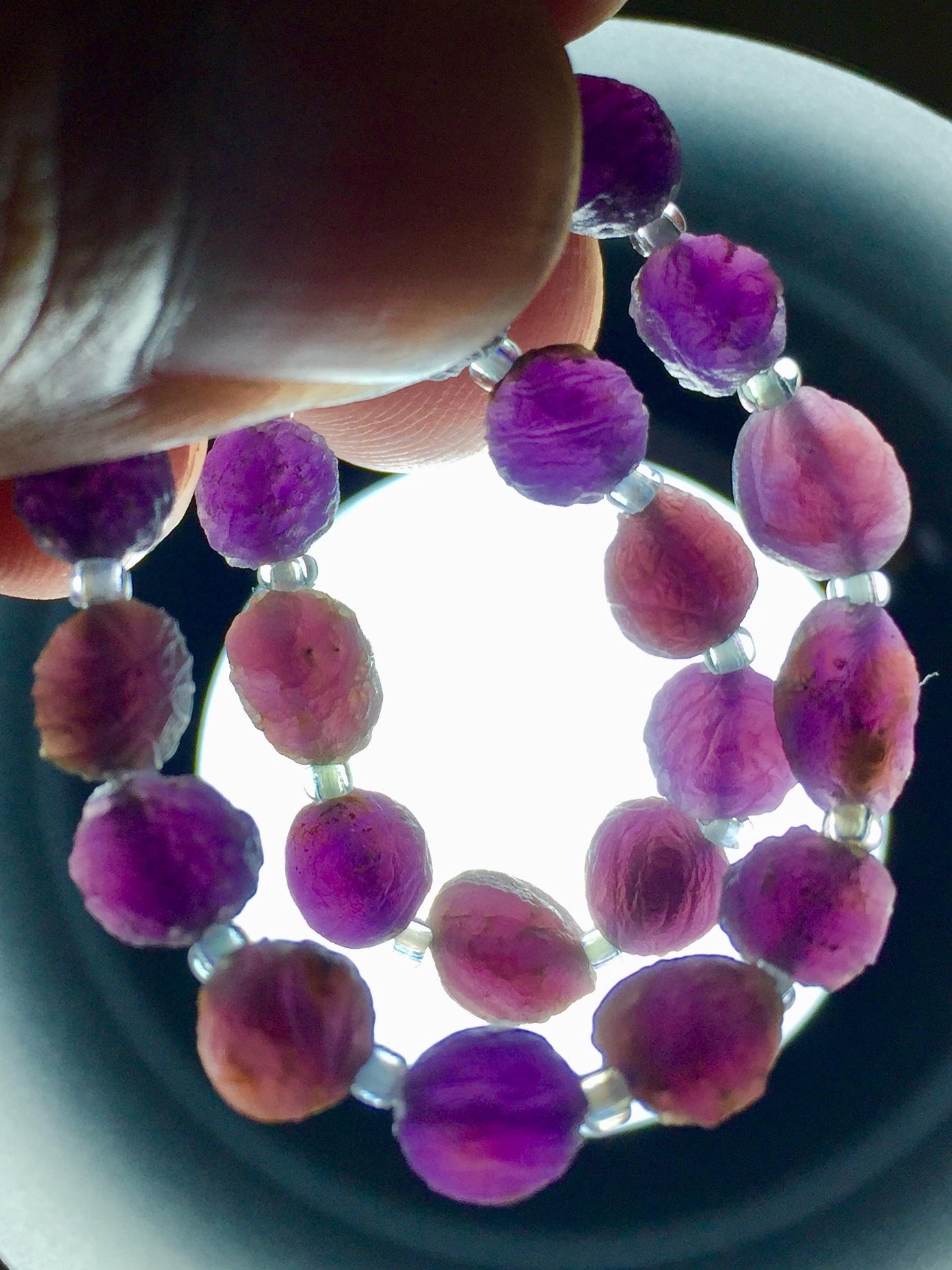 9) 紫ゴビアゲート「卑弥呼」ミニビーズ・ブレスレット