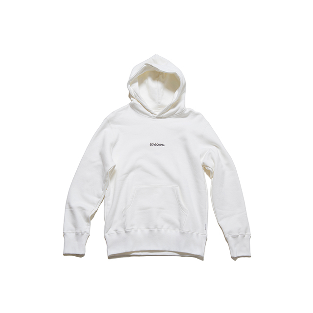 "SEASONING  HOODIE ""Lunch"" - WHITE"