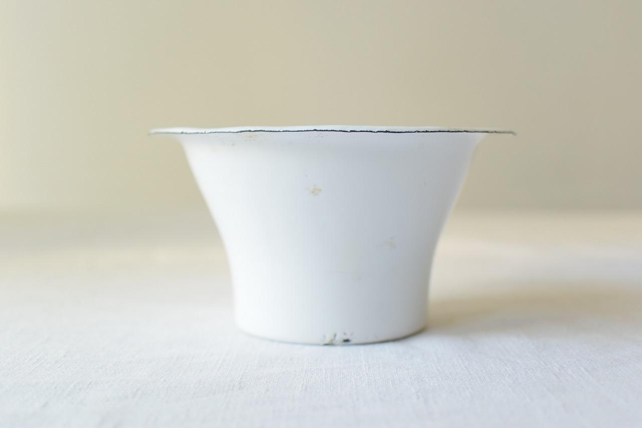 フランスアンティーク珍しいホーローのジャムカップ