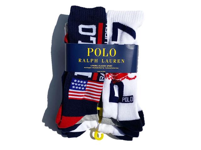 POLO by Ralph Lauren|P67 Logo Flag Socks 6-Pack
