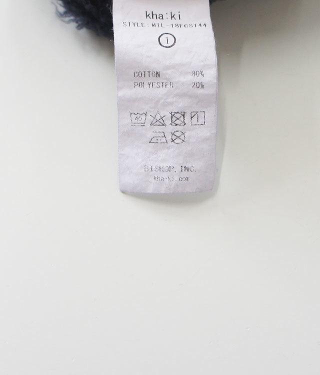 kha:ki カーキ リメイクスウェットLIERRE  レディース スウェット スエット 長袖 ロゴ 起毛 通販 【返品交換不可】 (品番mil-18fcs144a)