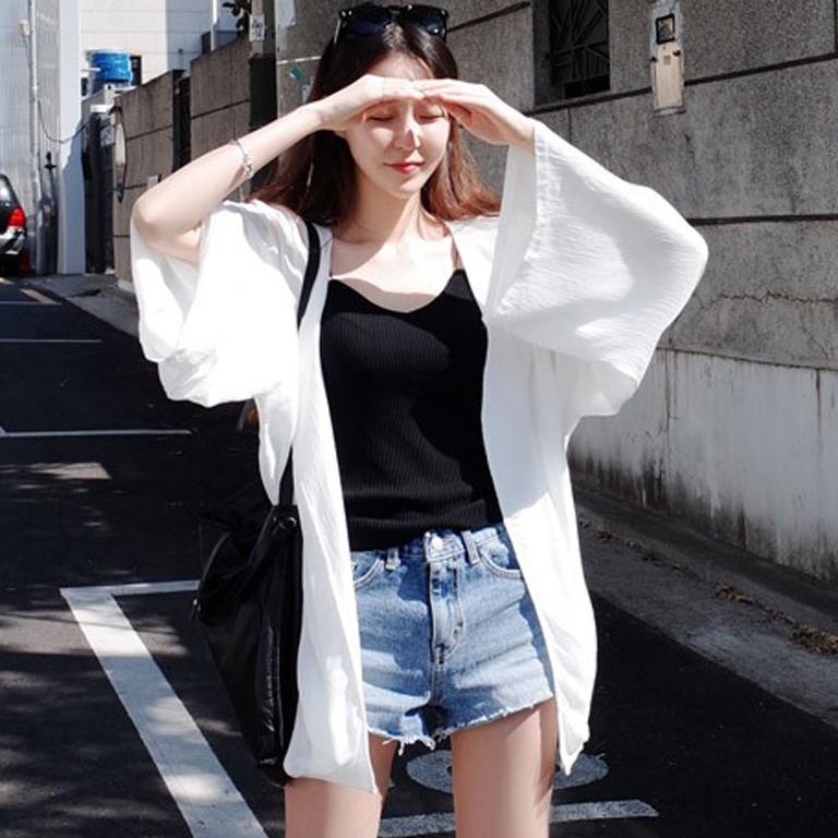 【ビギニ/水着】長袖無地カジュアル日焼け止め服23802242