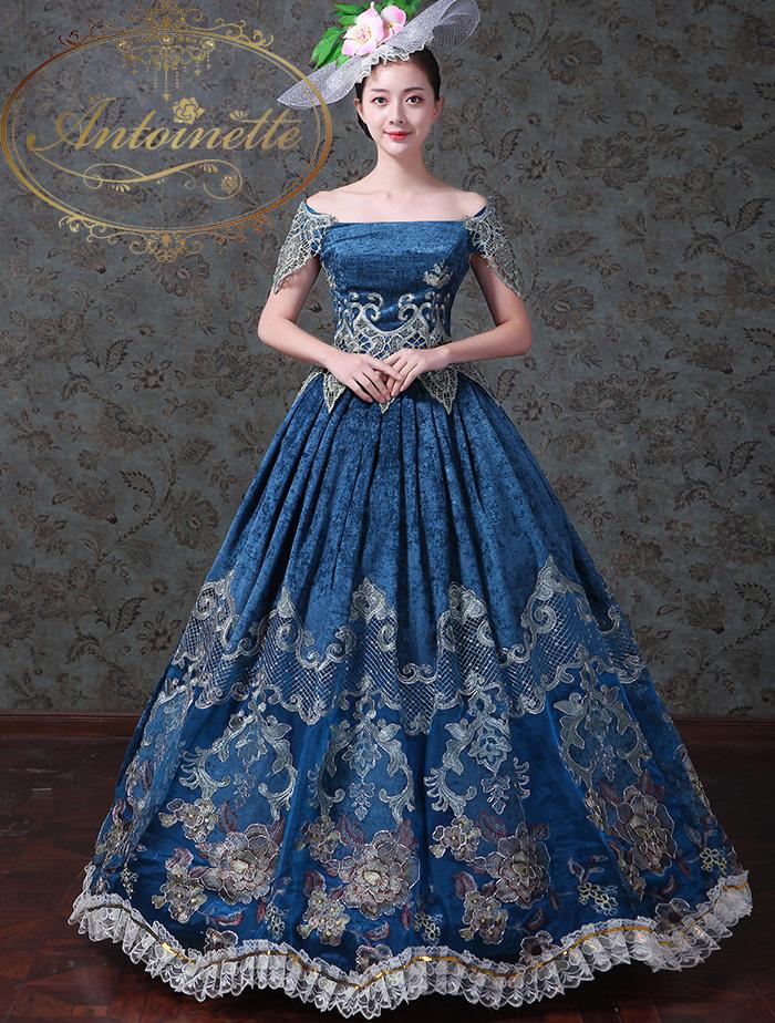 エレガント 貴族 中世貴族 コスプレ フランス人形 ハロウィン ドレス マリーアントワネット 宝塚 舞台衣装 ベルバラ キレイ