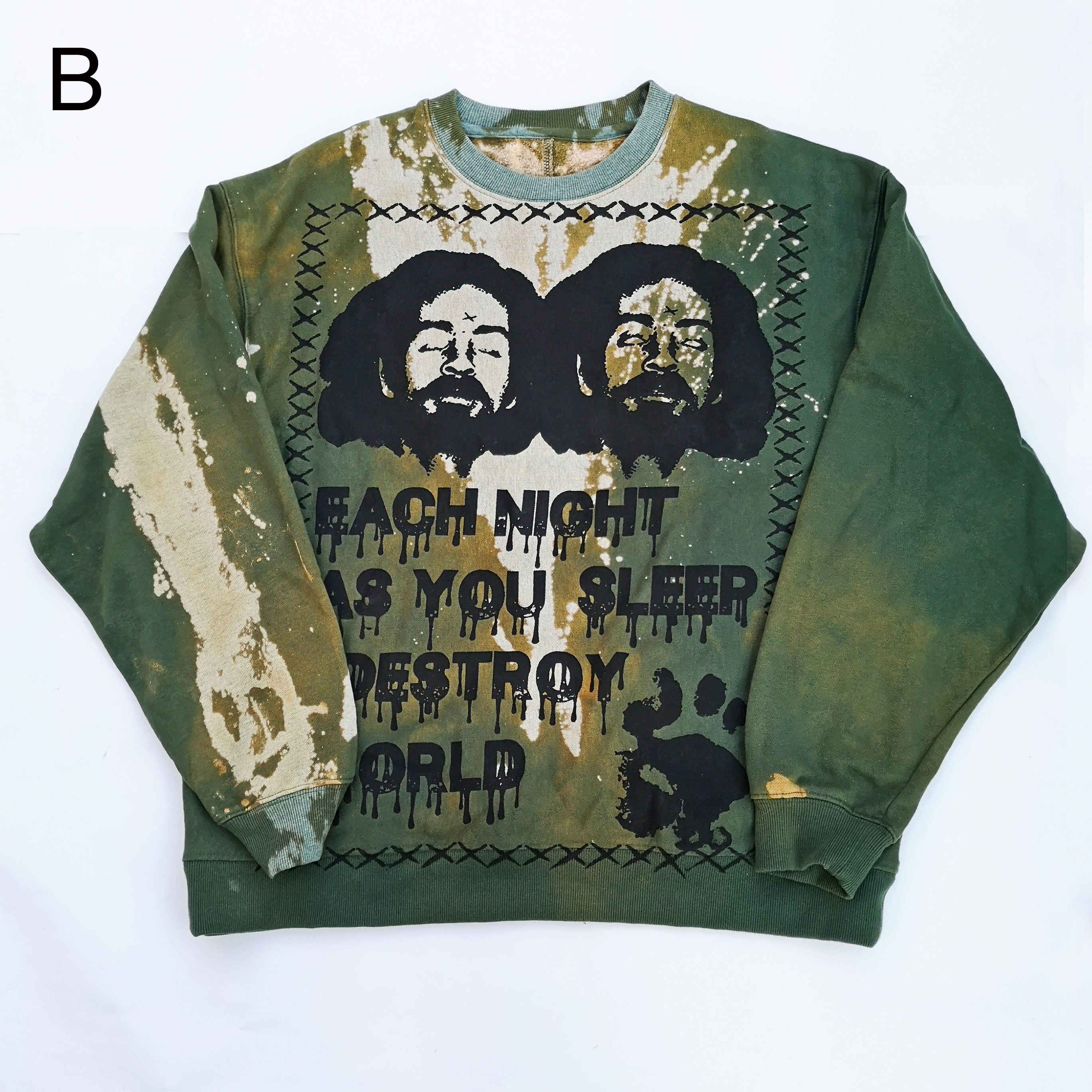 bizarro MANSON Tie-dye CREW NECK SWEAT
