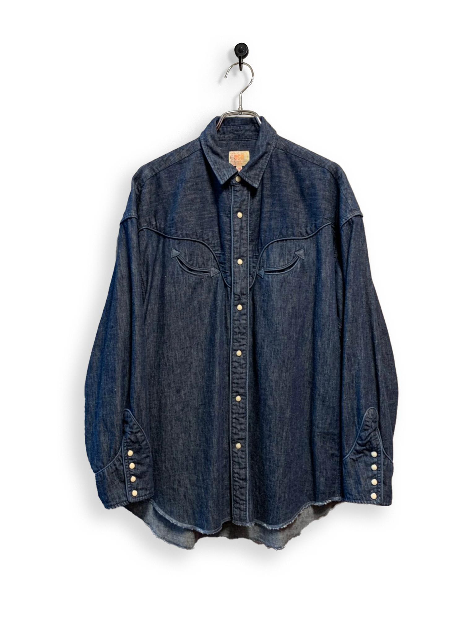 6.5oz Denim Western Shirt / one wash