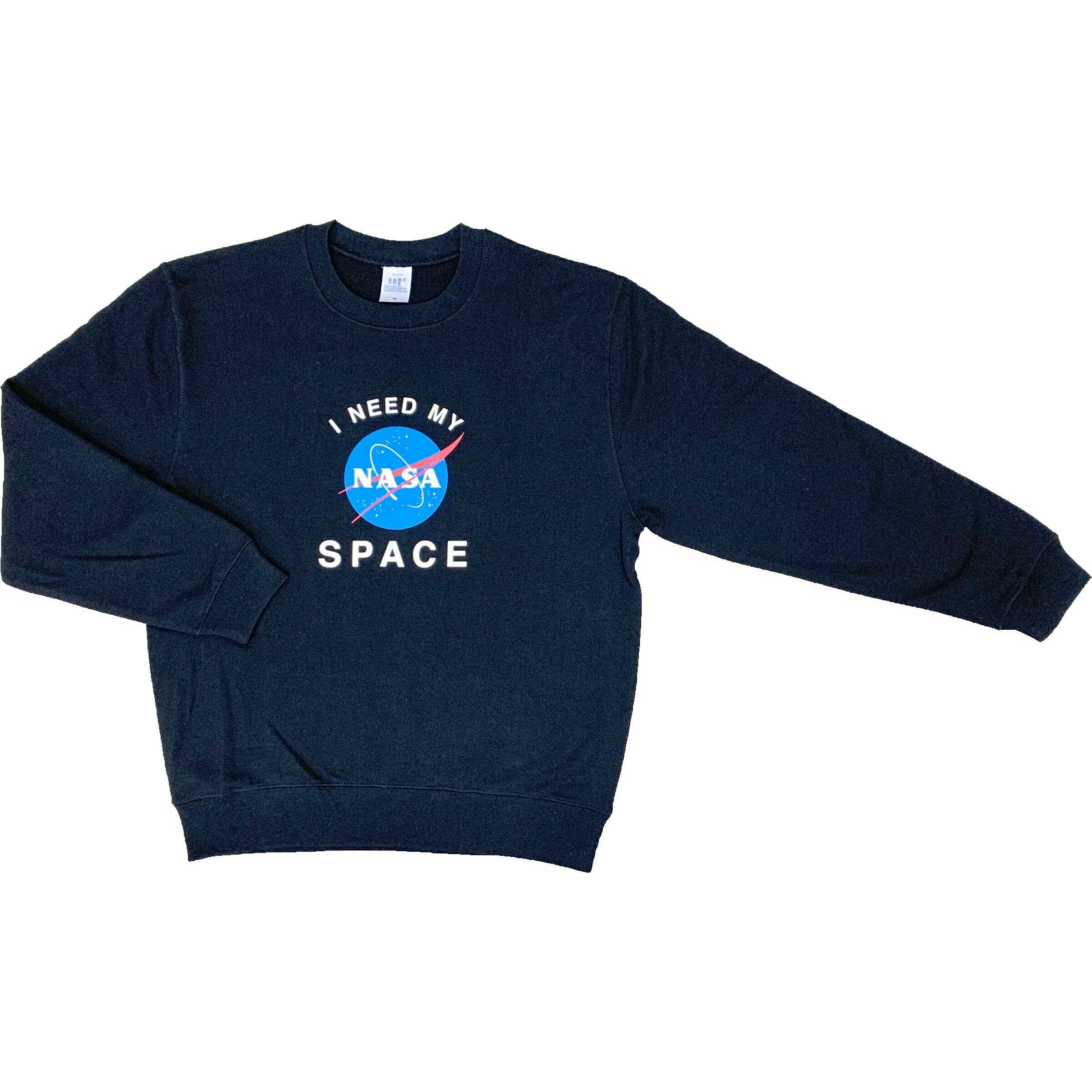 【予約販売】NASA公認(アメリカ航空宇宙局)・トレーナー・JERZEES(ジャージーズ)ボディ・インサイニア(ミートボール)・ブラック