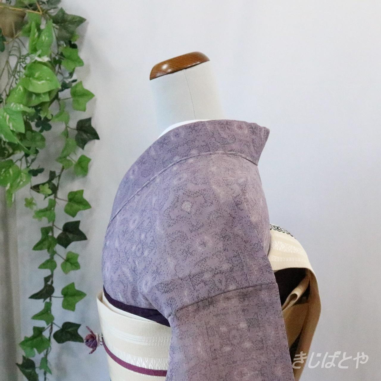 夏紬 半色(はしたいろ)の小紋