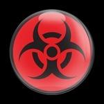 ドームバッジ(CD0457 - SIGN BIOHAZARD RED) - 画像1