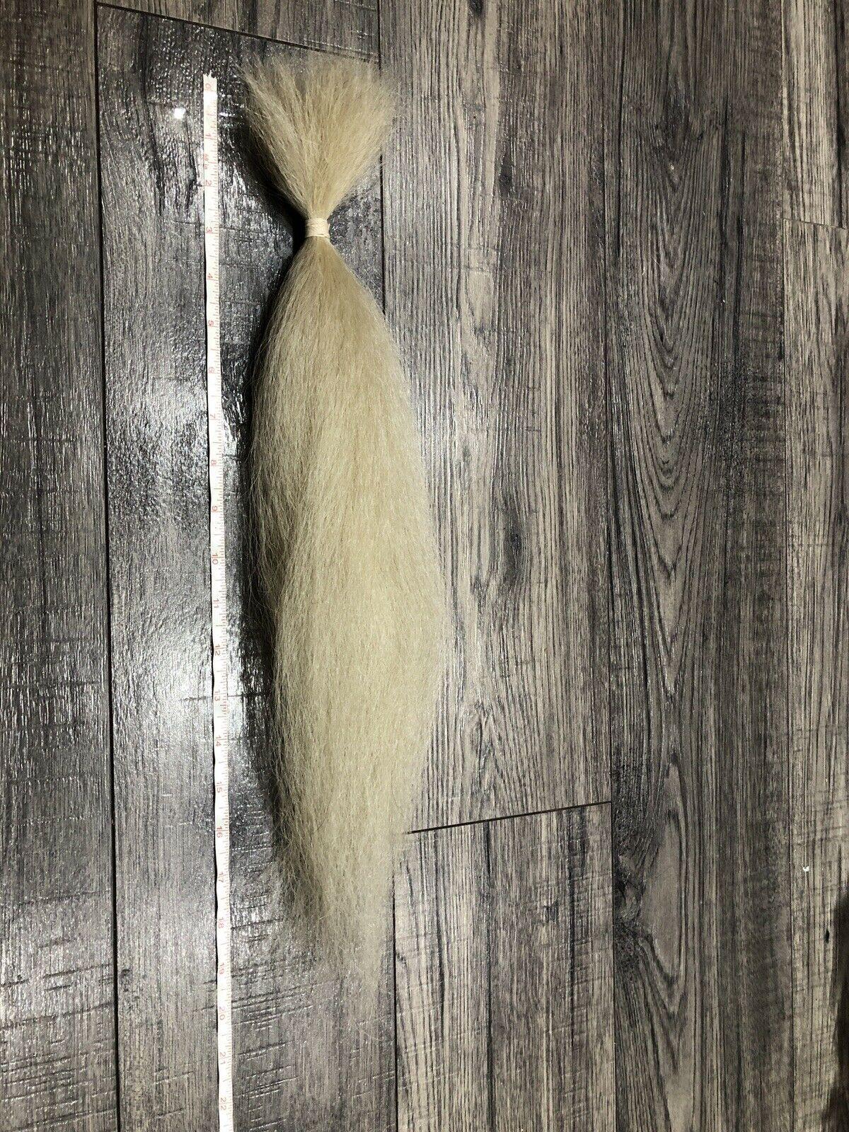 ヤクの毛 白 45.5cm(18 inch)