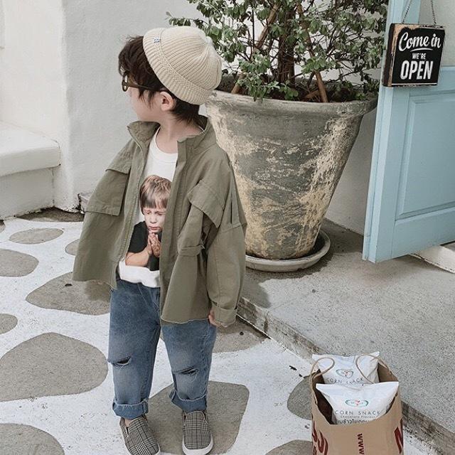 ビッグシルエットジャケット カーキ【799】