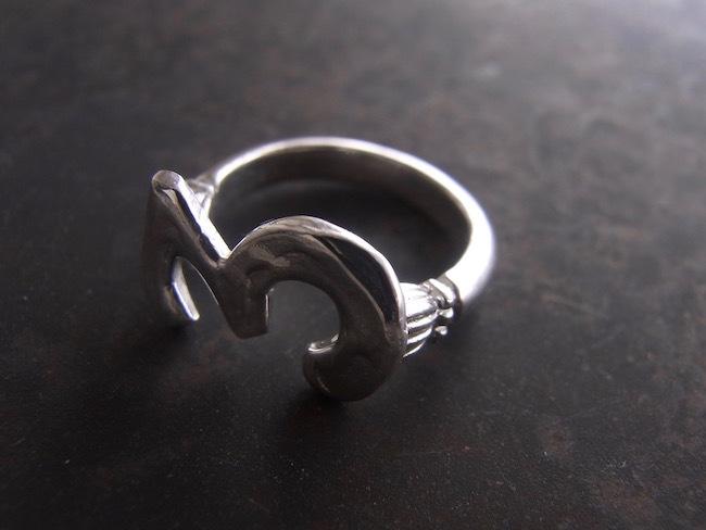 Numero Pinky Ring/数字3のピンキーリング/S