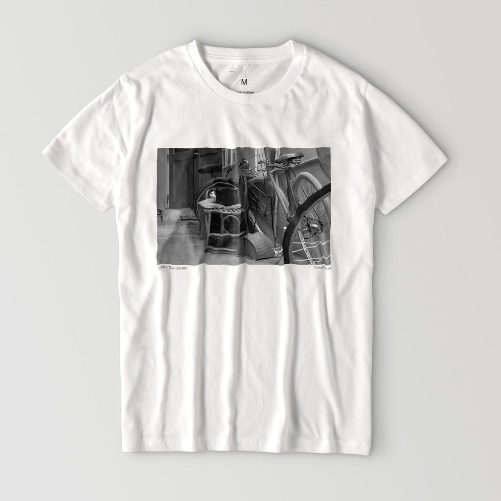 路地裏のねこフォトTシャツ