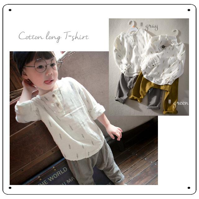 30%off在庫セール商品【TO25】ホワイトツリー柄ロングTシャツ