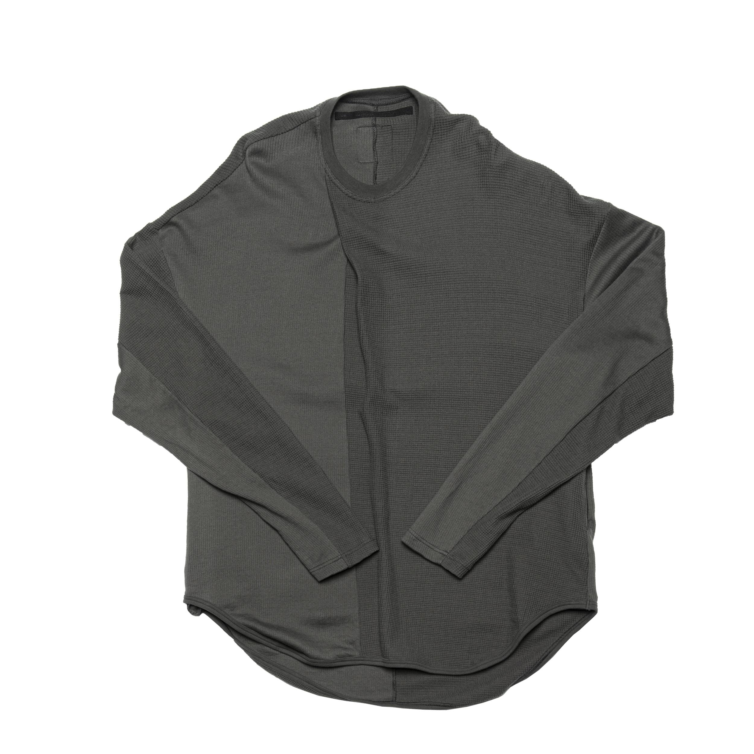 687CUM7-MUD KHAKI / 2 FACE タックシャツ