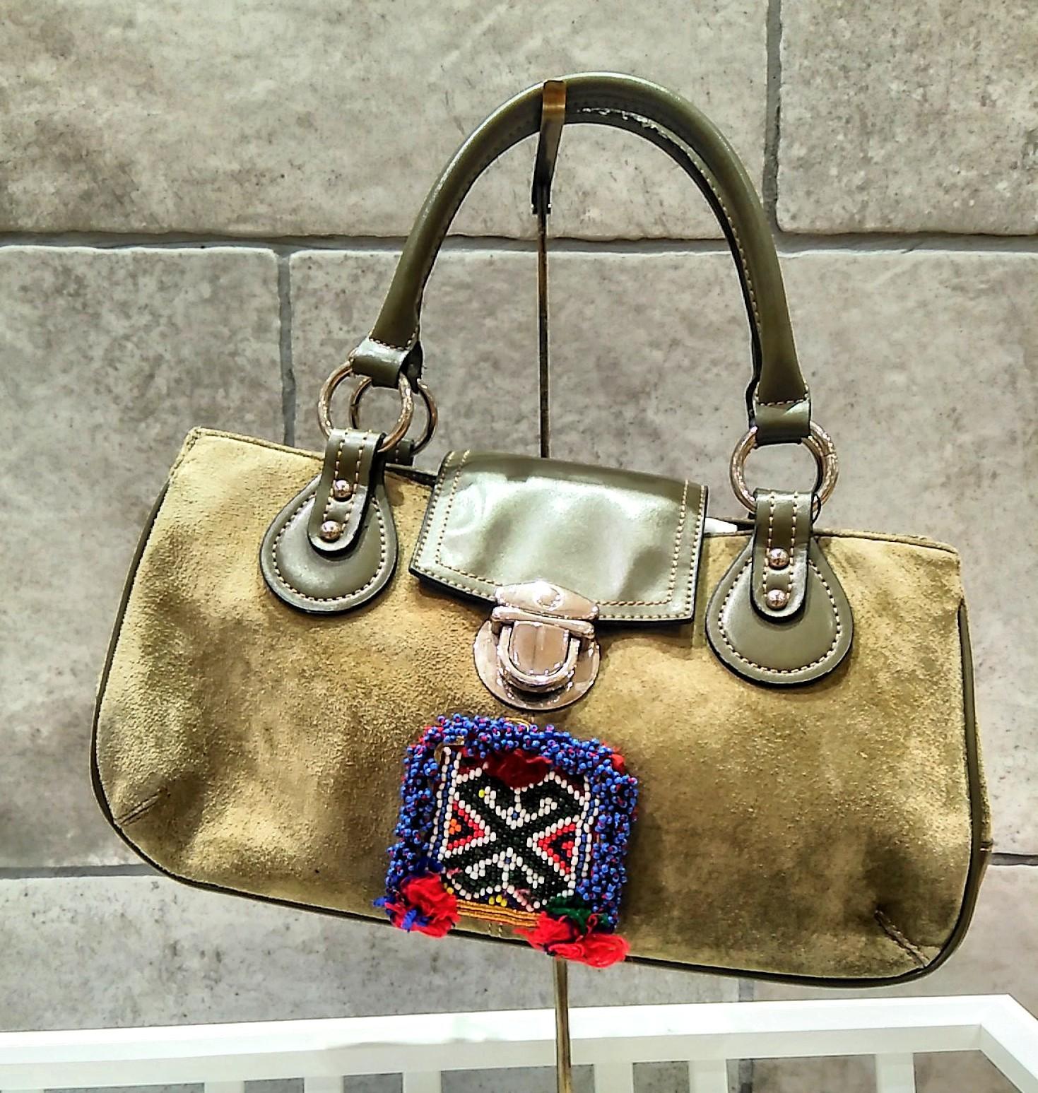 drmー101 アフガニスタンビーズ刺繍ハンドバッグ