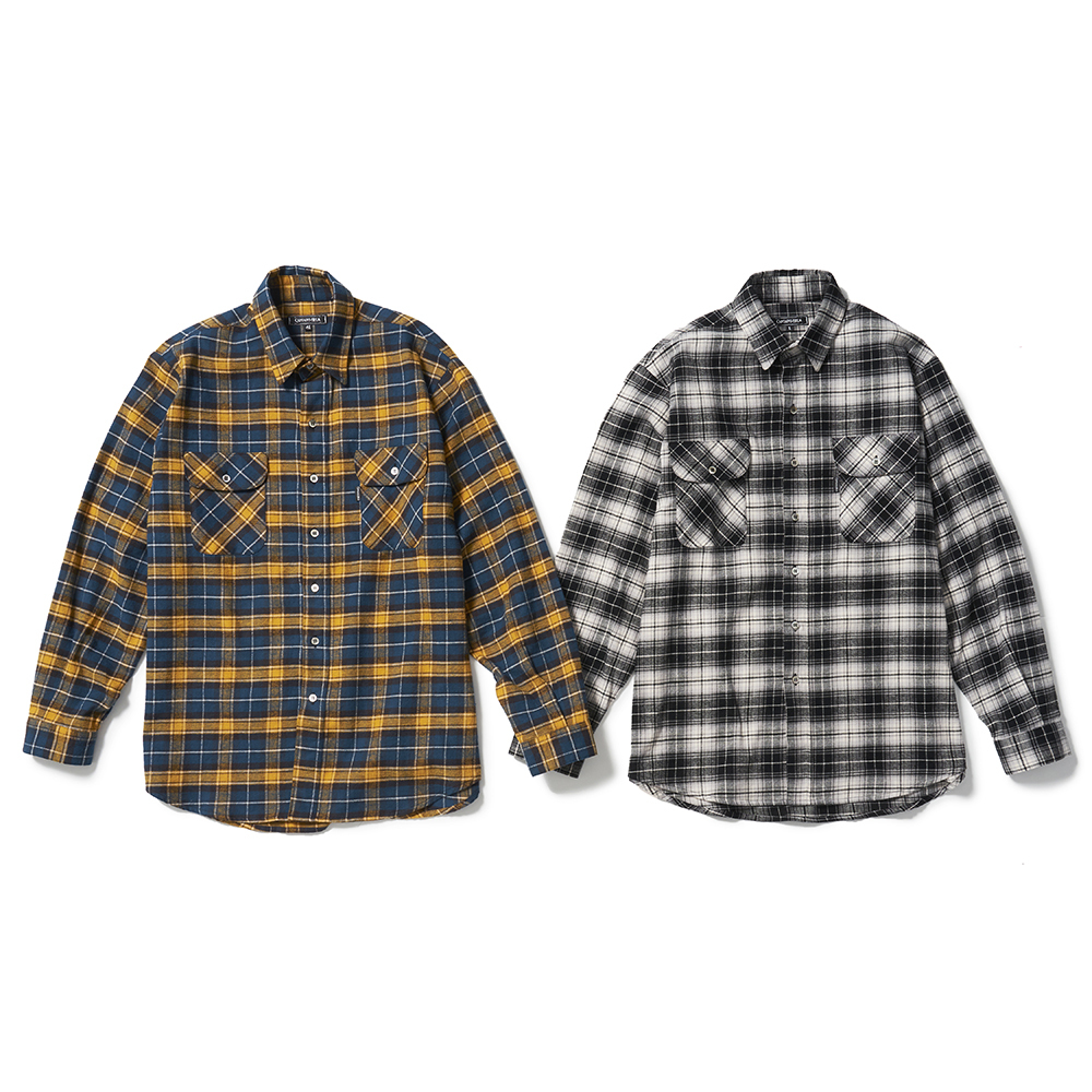 CAPTAINS HELM #Over-Size Flannel Shirts