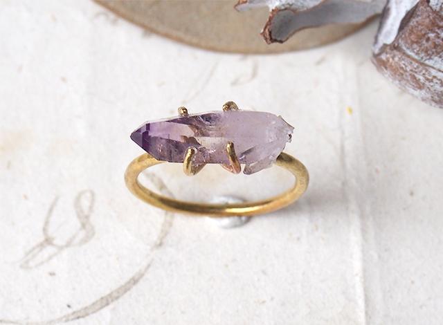 【一点物】原石のベラクルスアメジストのリング