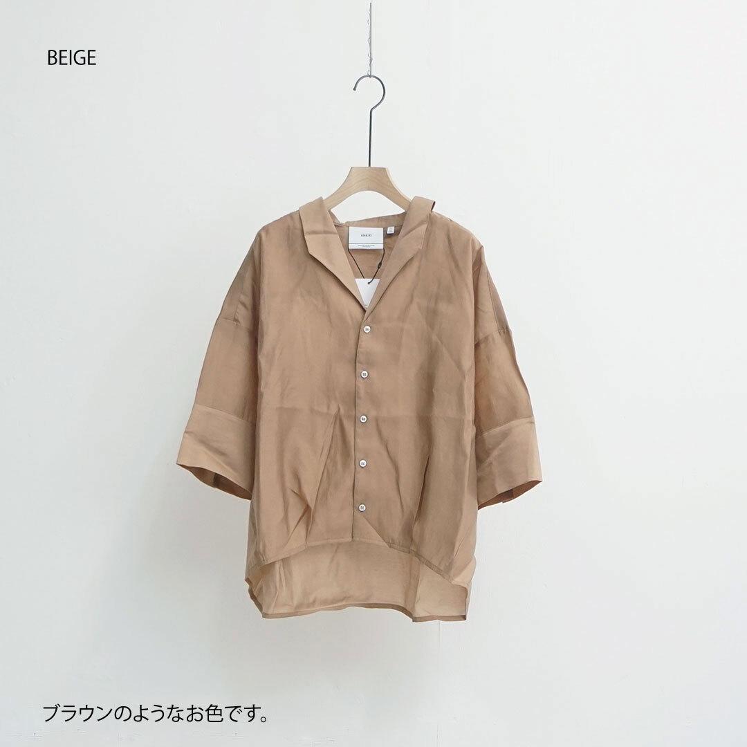 kha:ki カーキ SHEER OPEN COLLAR SHIRTS シアーオープンカラーシャツ (品番mil-20hbl88)