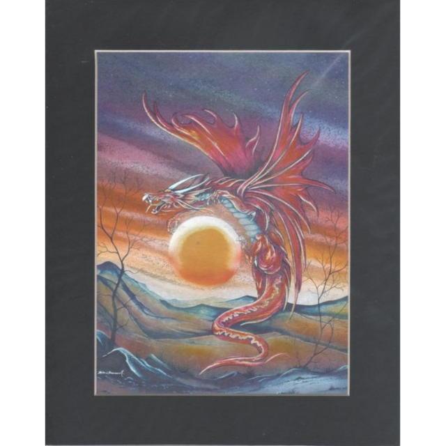 【アルミ彫刻画】太陽とドラゴン[a443ms]