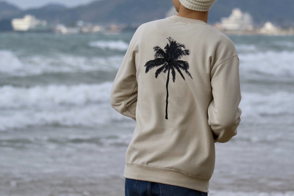 【1/15 21:00 販売開始】Palm tree SWEAT(beige)