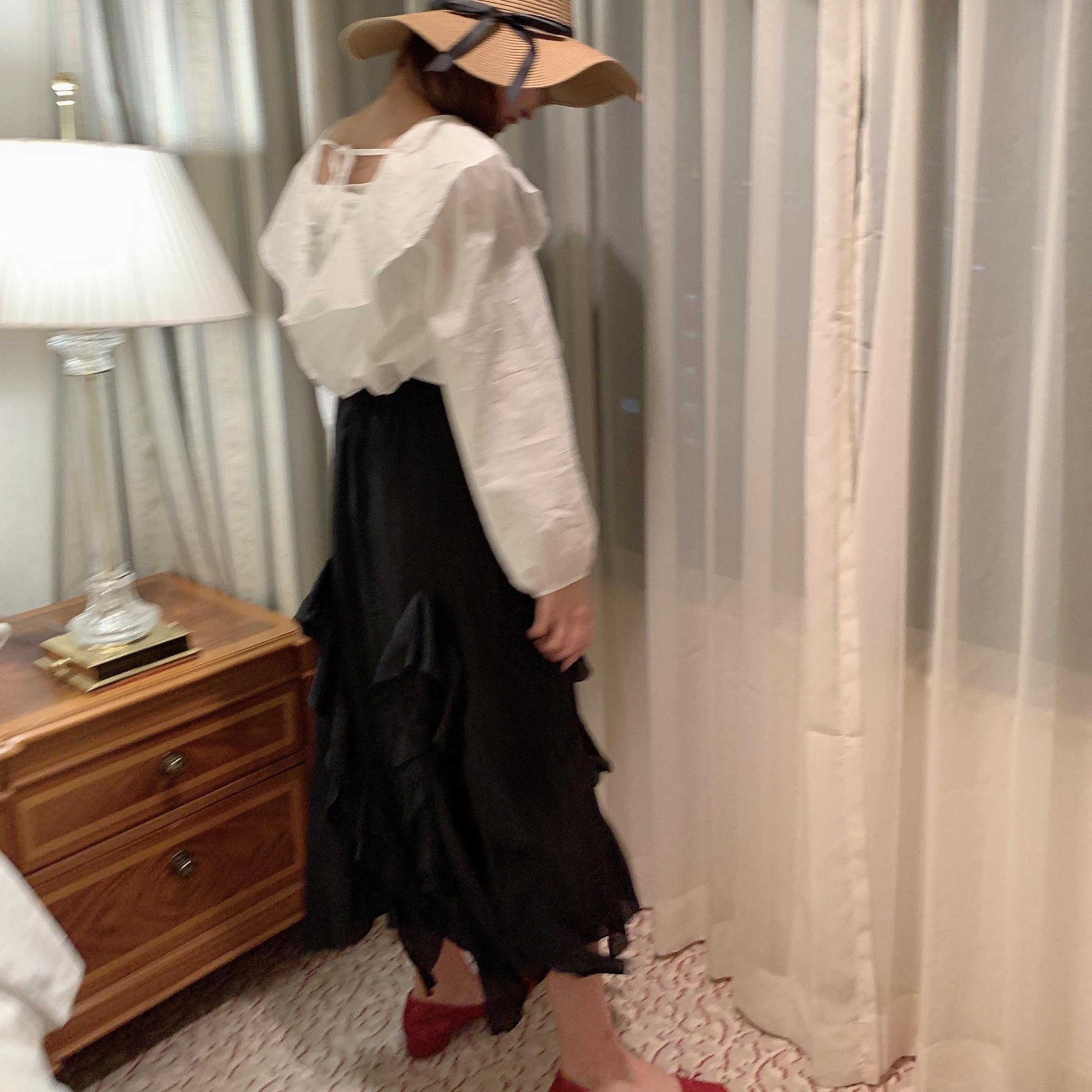 chiffon frill skirt