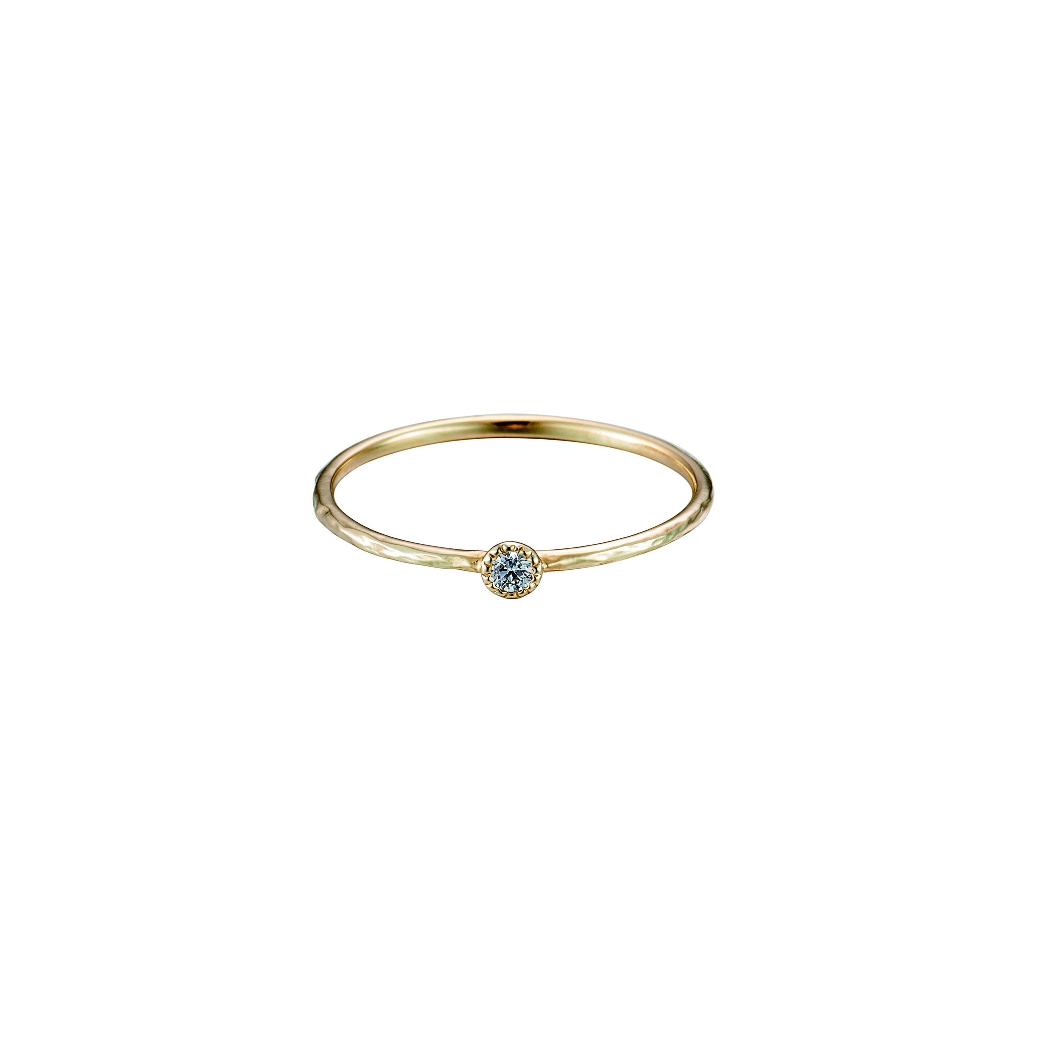 K18 One Diamond Ring