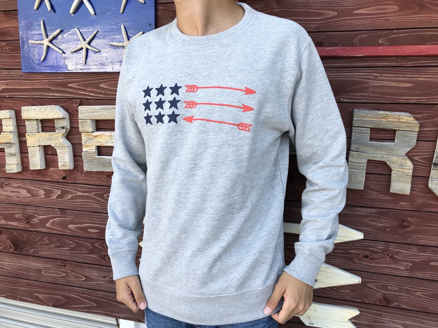 USA ArrowFlag スウェット(grey)
