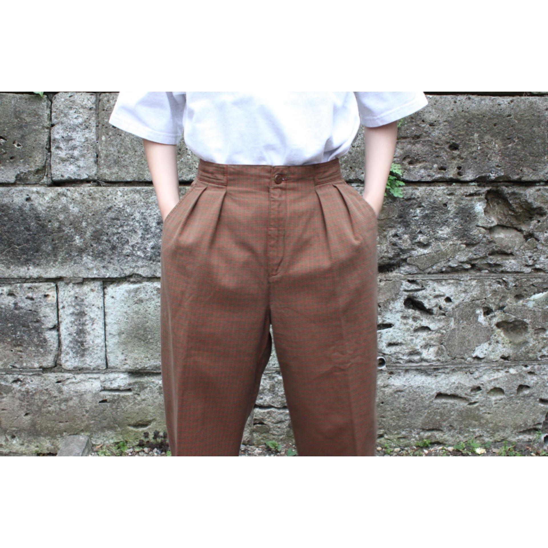 Vintage buckle back pants
