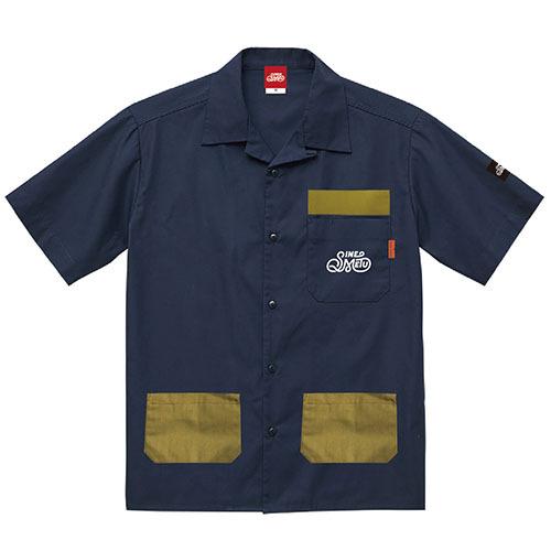 オープンカラーシャツ 半袖 / アウトドアネイビー | SINE METU - シネメトゥ