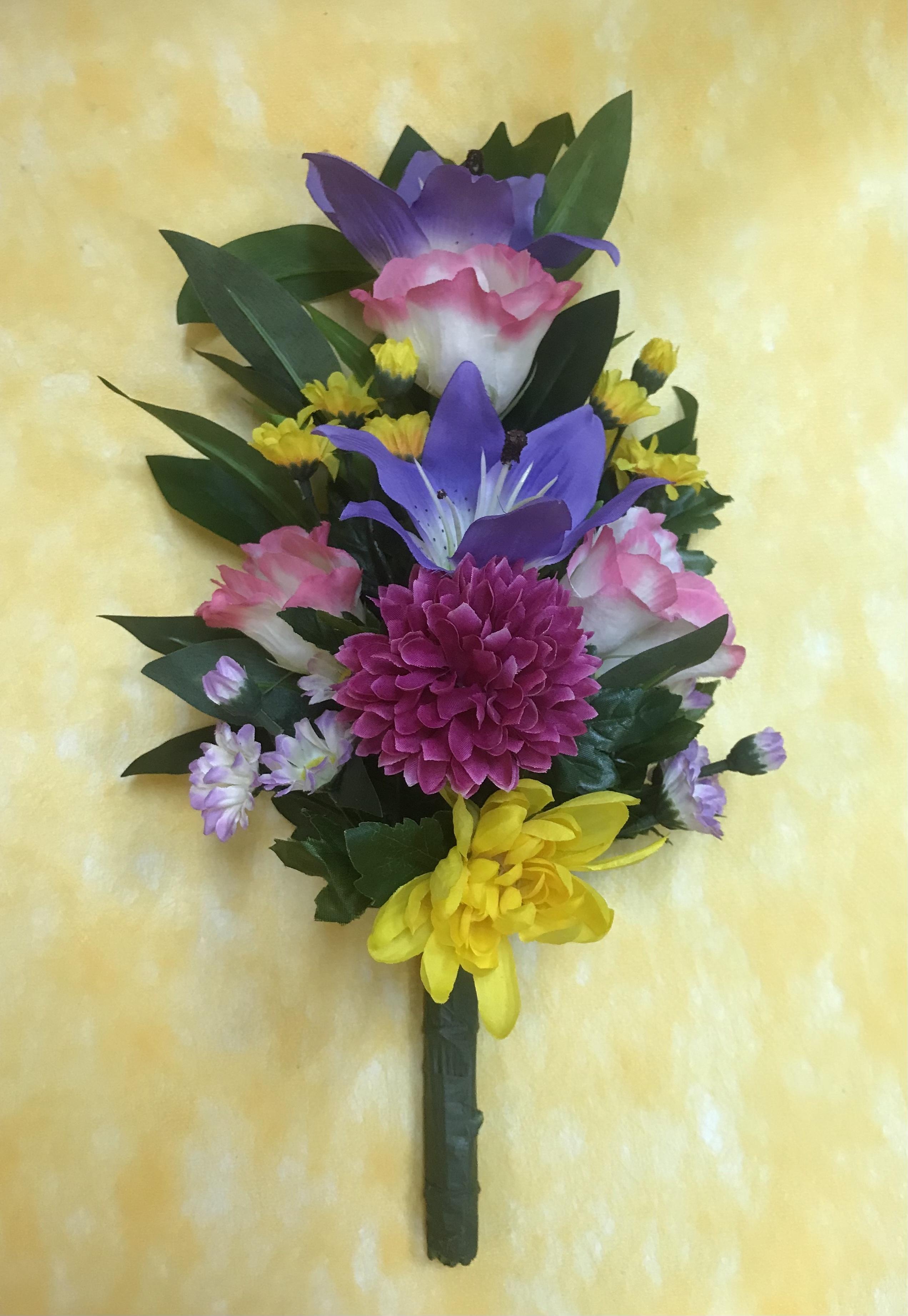アーティフィシャルフラワー仏花(百合紫)