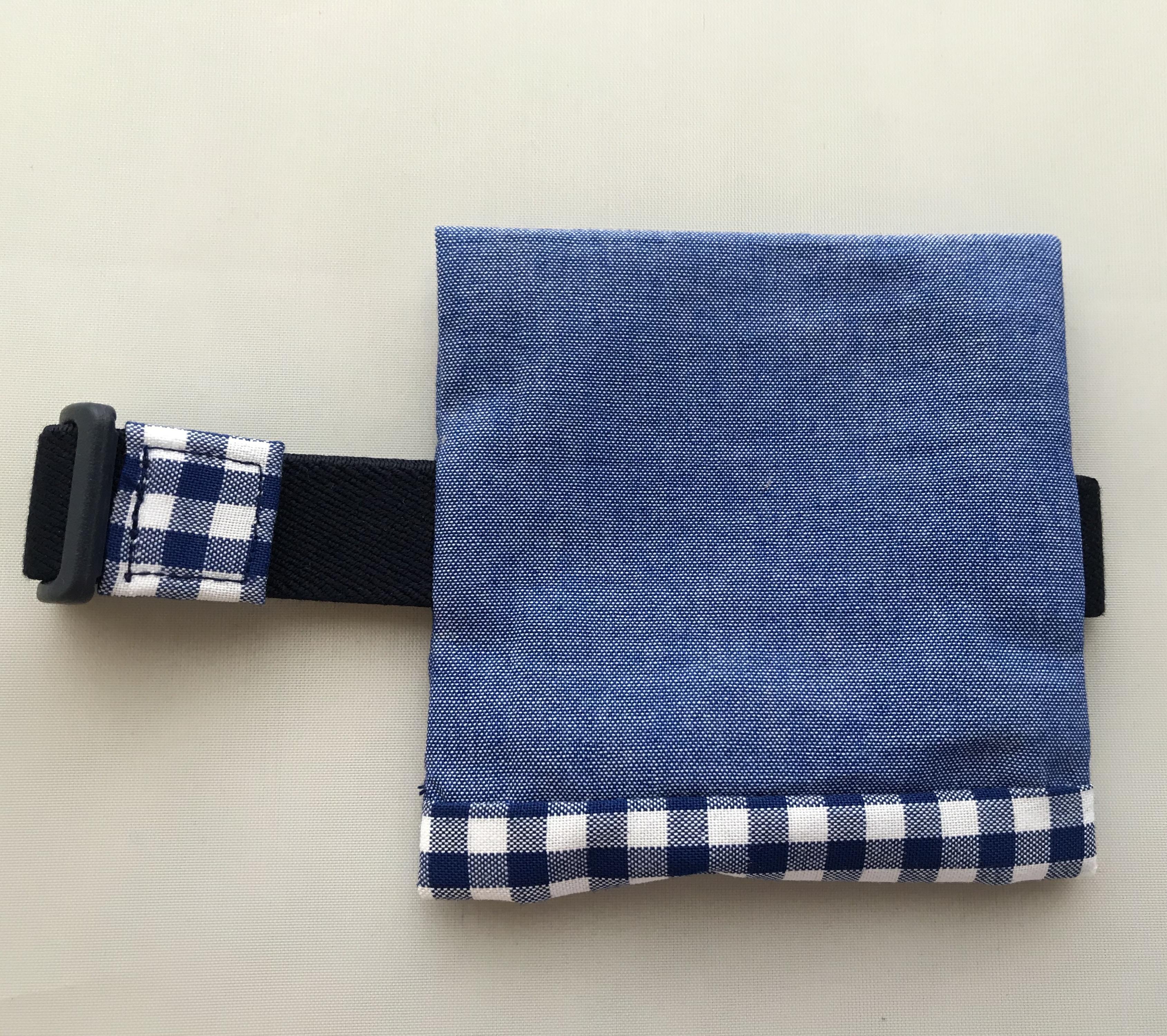 シンプル 保冷袋付き ランチベルト 青 (旧サイズ)