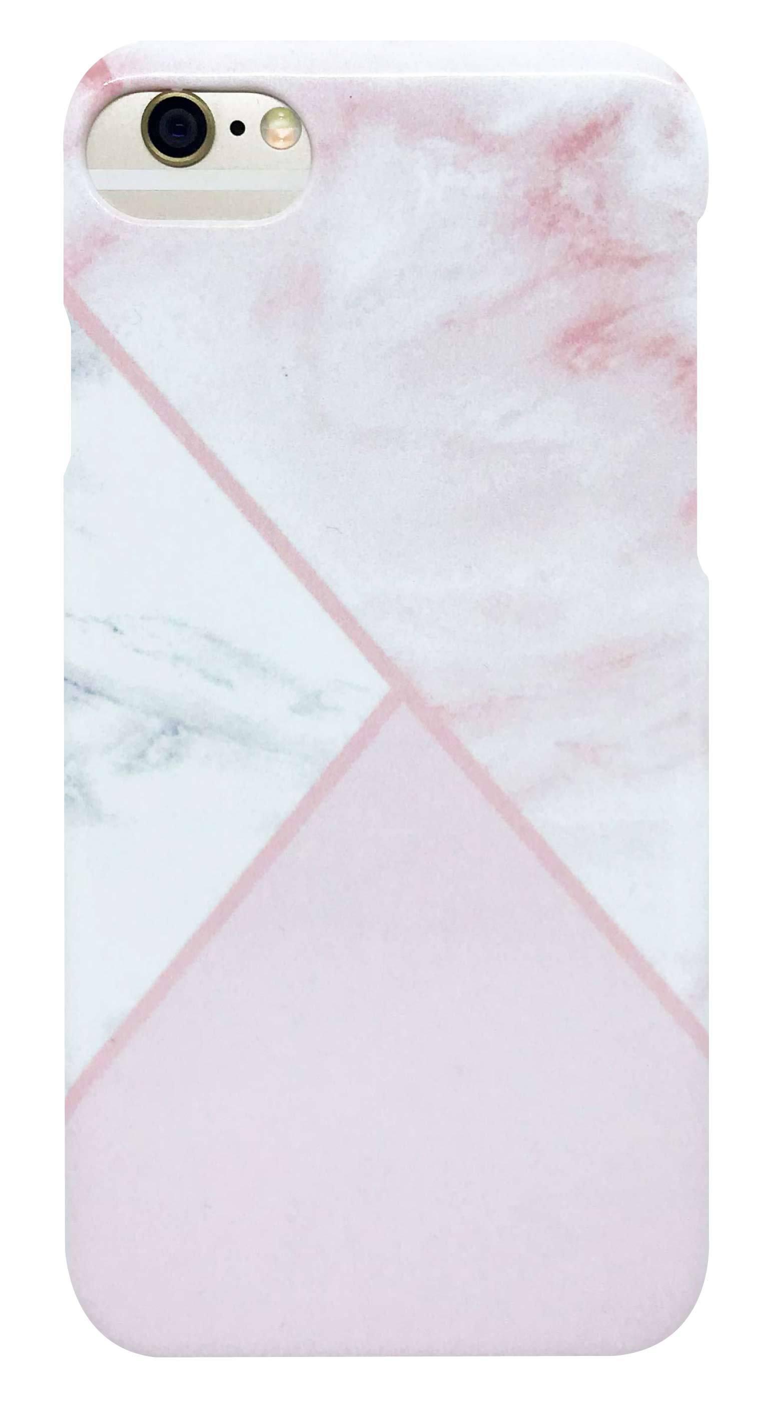 大理石 柄 ・ ピンク つや有り ハード ケース