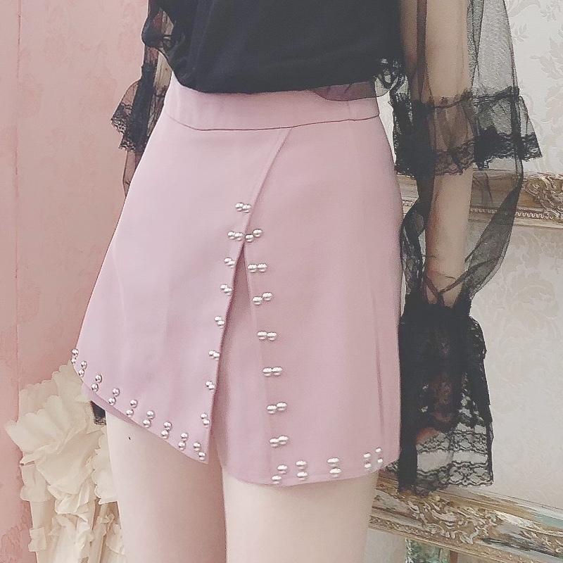 スタッズキュロットミニスカート(PINK)