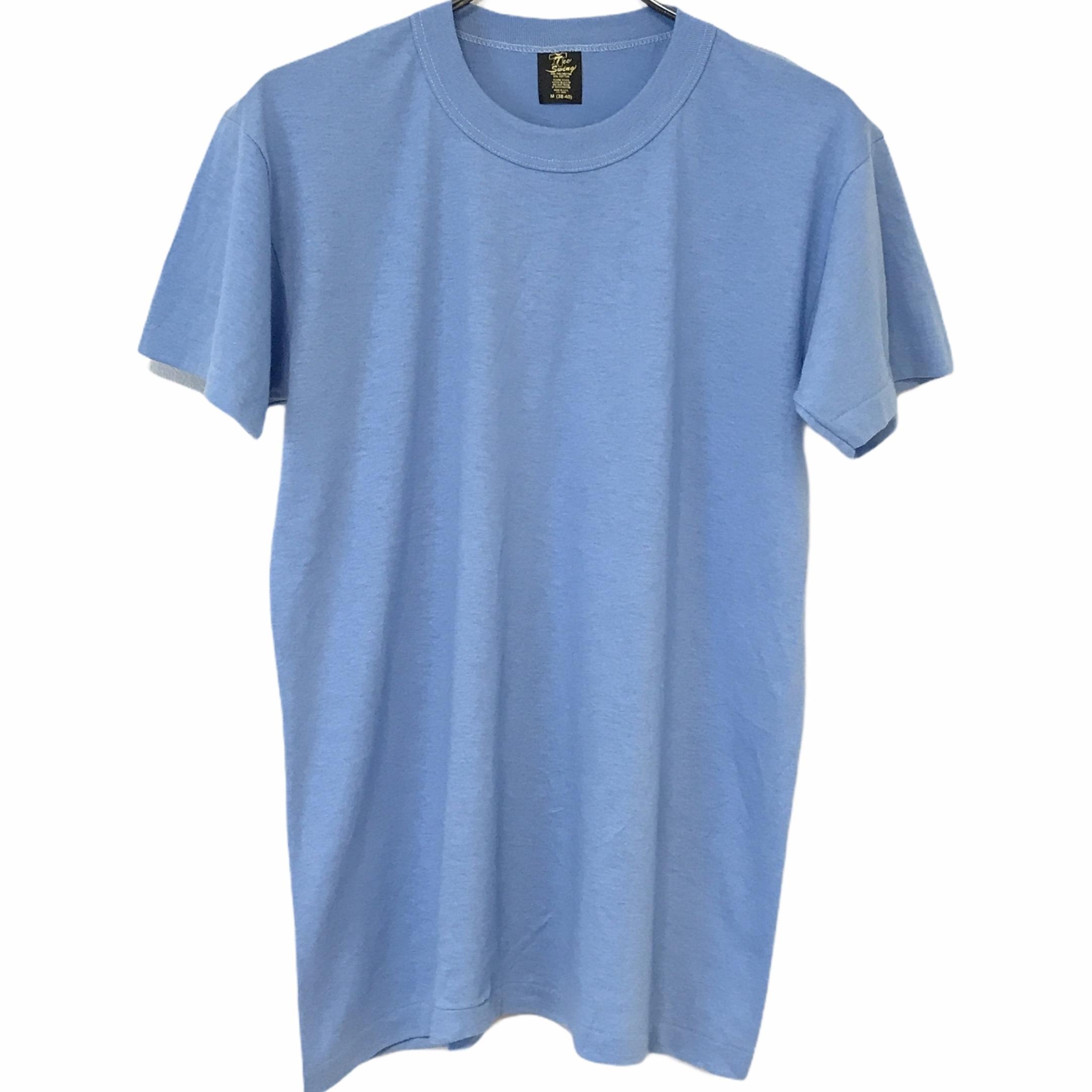Dead Stock! 80's Tee Swing T-shirt made in USA Light Blue