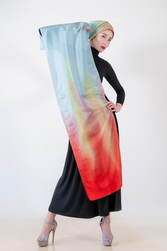 Silk Cashmere|作品名「虹」