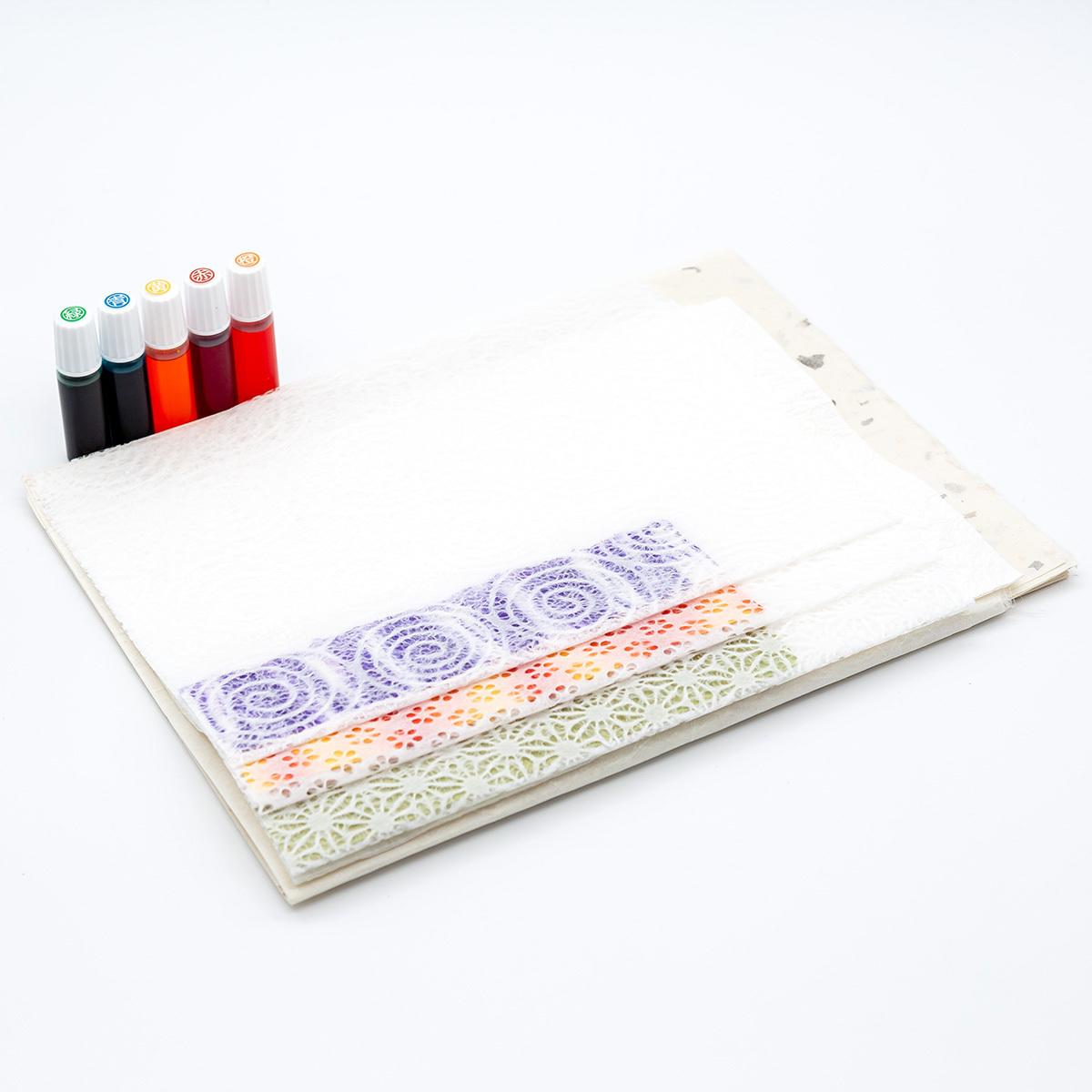オリジナルの和紙が作れる!染めてみようセット