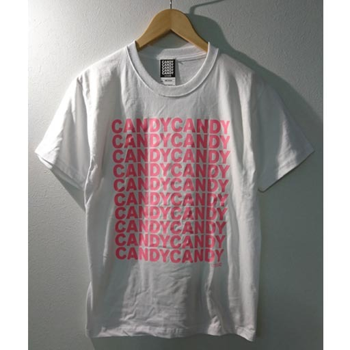 FIVE CANDY Tシャツ ホワイト×ピンク