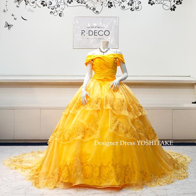 【オーダー制作】ウエディングドレス プリンセスシリーズ/美女と野獣ベルドレス2 披露宴/お色直し ※制作期間3週間から6週間