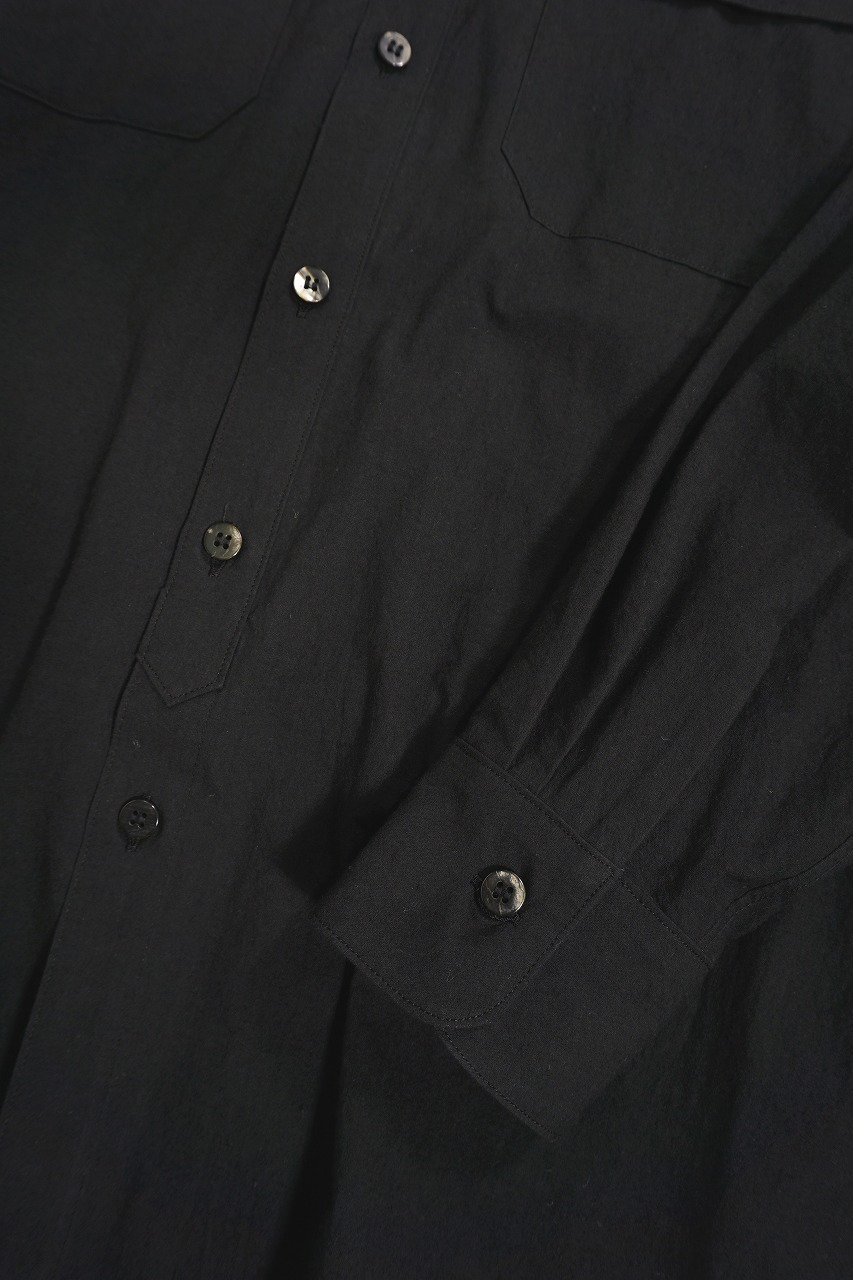 Slub Cloth Wide L/S Shirt