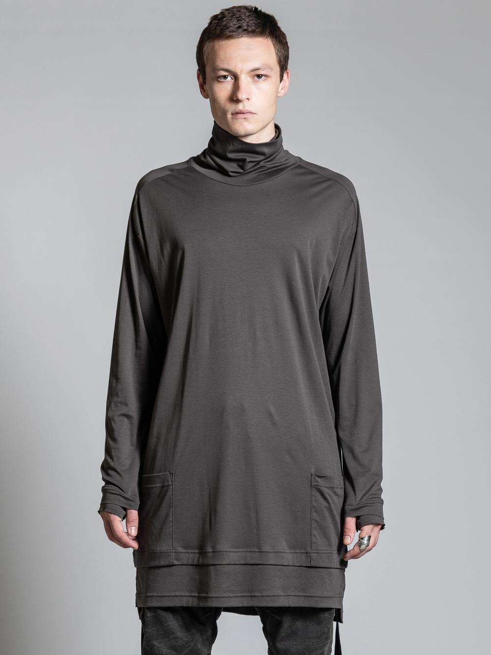 VI-2979-01 / 綿スムース ロング丈 タートルネックTシャツ