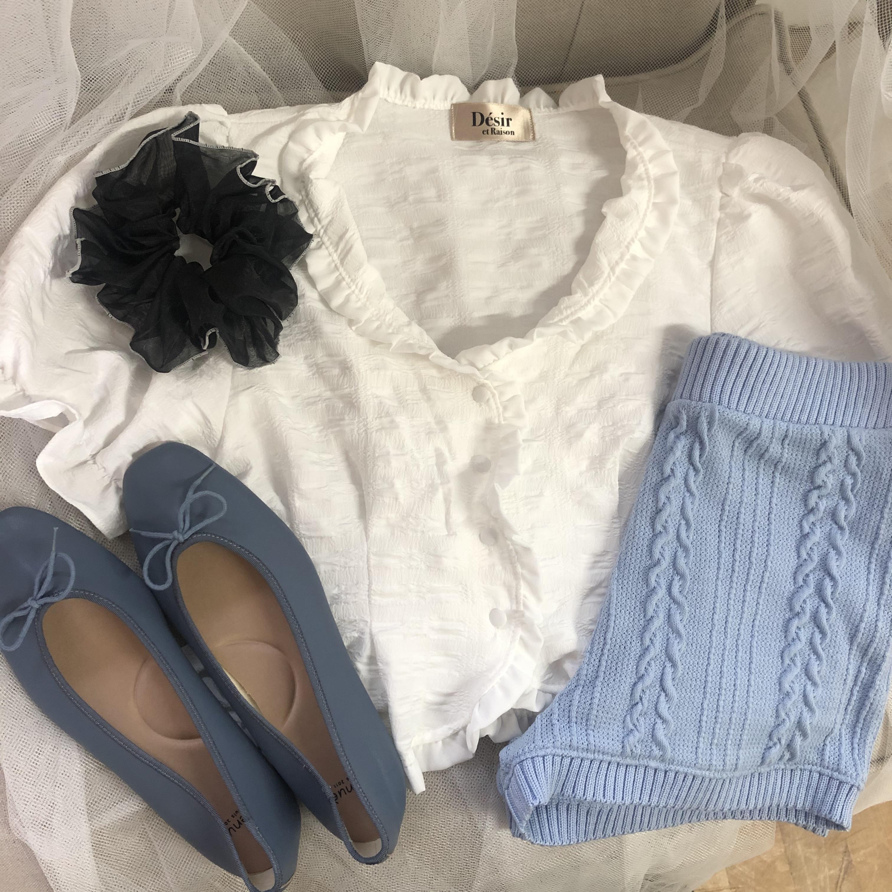 frill  peplum blouse