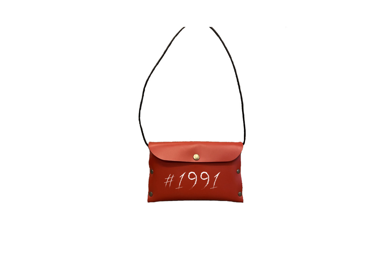 1991 leather mini side bag (RED)