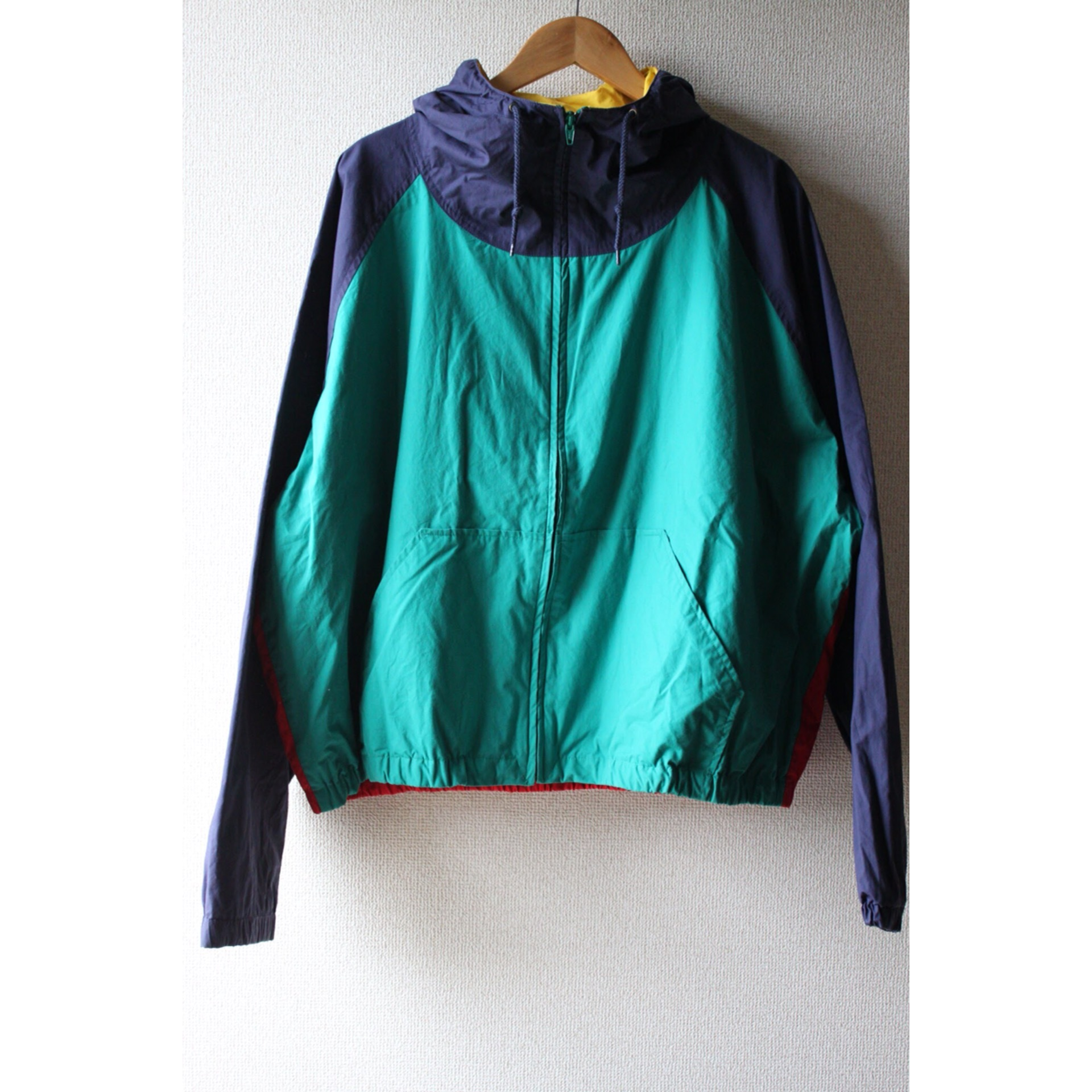 Vintage multicolor hooded blouson by Brooks Brothers