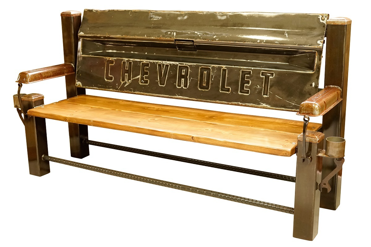 CHEVROLET FLEET BED TAILGATE BENCH 【Gray】
