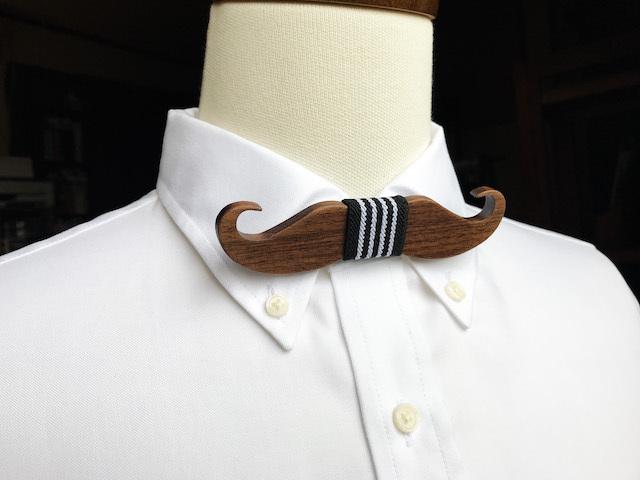木製 蝶ネクタイ #Cool Mustache - 画像2