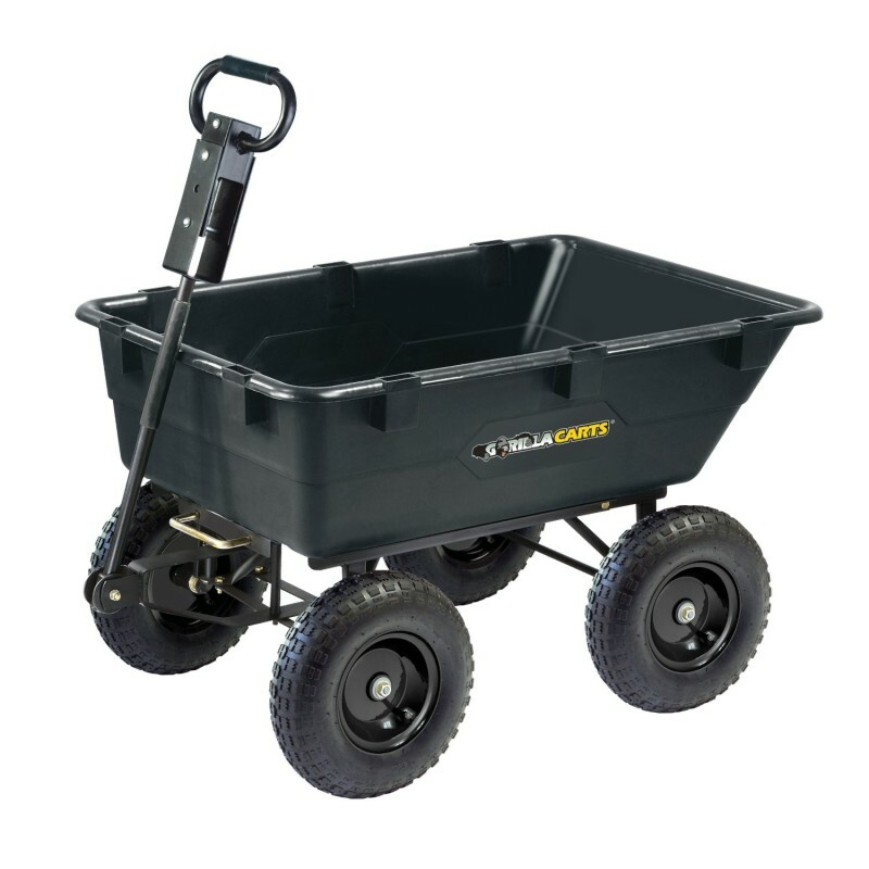 【USED】 ガーデン ワゴン カート アウトドア Gorilla Carts GOR866D Dump Cart