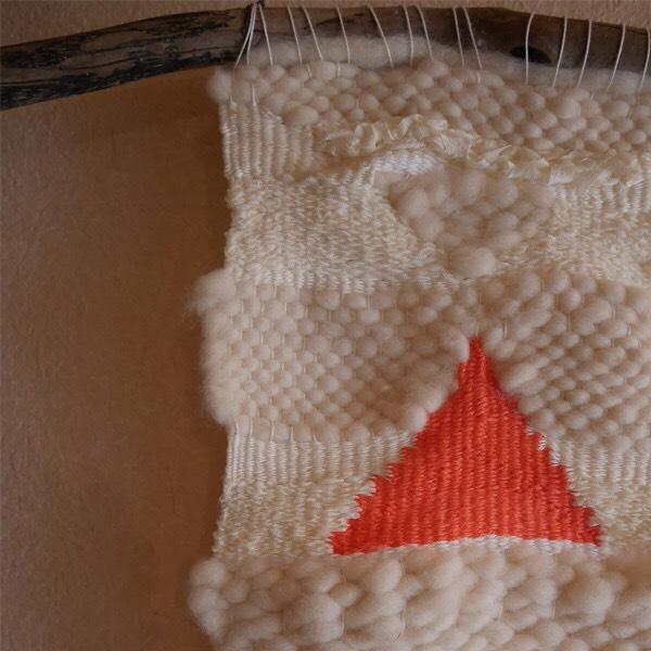 ≪オリジナル≫手織りタペストリー【雲と雪】