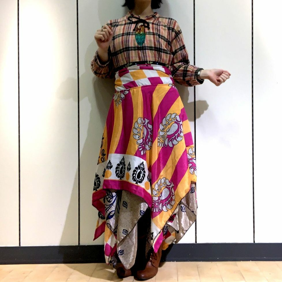 dsz-002 【新価格】シルクサリーギザスカート
